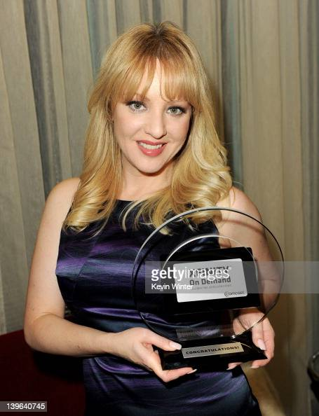 Actress Wendi McLendonCovey accepts the 2011 Xfinity On Demand Award for the most viewed new release on behalf of 'Bridesmaids' at Comcast on...