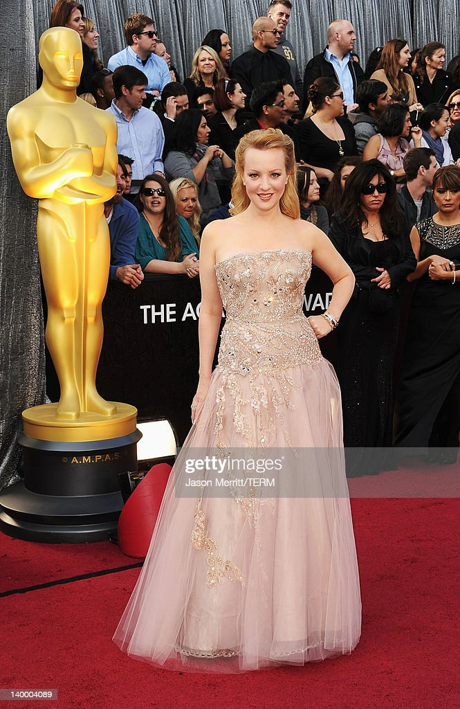 Actress Wendi McLendon-Covey arrives at the 84th Annual Academy Awards held at the Hollywood & Highland Center on February 26, 2012 in Hollywood, California.