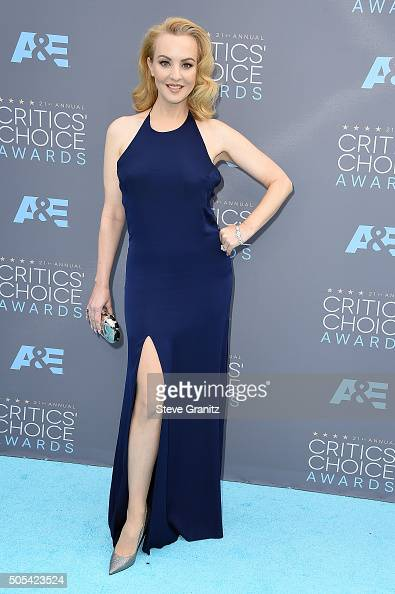 Actress Wendi McLendonCovey attends the 21st Annual Critics' Choice Awards at Barker Hangar on January 17 2016 in Santa Monica California