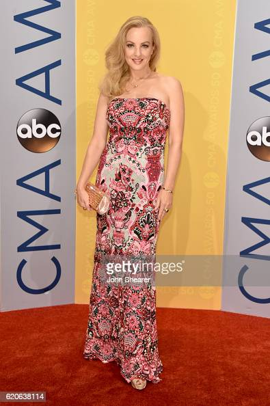 Actress Wendi McLendonCovey attends the 50th annual CMA Awards at the Bridgestone Arena on November 2 2016 in Nashville Tennessee