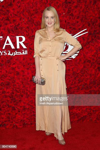 Actress Wendi McLendonCovey attends the Qatar Airways Los Angeles Gala at Dolby Theatre on January 12 2016 in Hollywood California