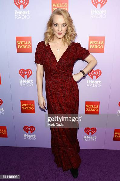Actress Wendi McLendonCovey poses backstage during the first ever iHeart80s Party at The Forum on February 20 2016 in Inglewood California