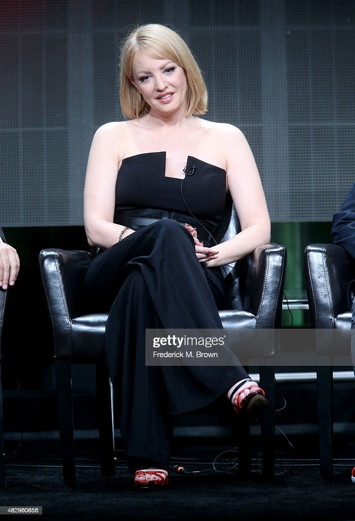 Actress Wendi McLendon-Covey speaks onstage during the 'The Goldbergs' panel discussion at the ABC Entertainment portion of the 2015 Summer TCA Tour at The Beverly Hilton Hotel on August 4, 2015 in Beverly Hills, California.