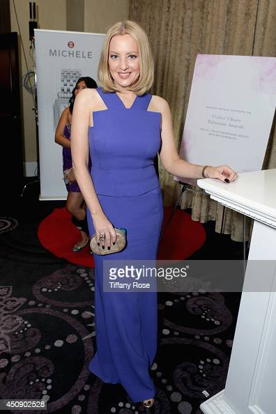 Actress Wendi McLendonCovey with MICHELE Watches at 4th Annual Critics' Choice Television Awards at The Beverly Hilton Hotel on June 19 2014 in...