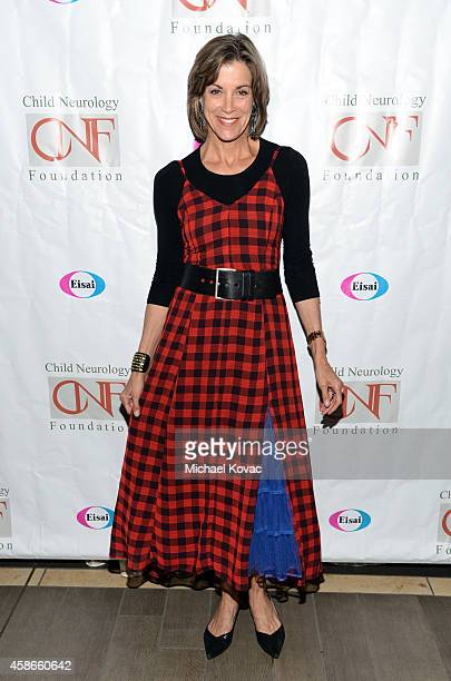 Actress Wendie Malick attends A Heroes Dinner Honoring John Laurian Scott hosted by the Child Neurology Foundation at the Four Seasons Hotel Los...