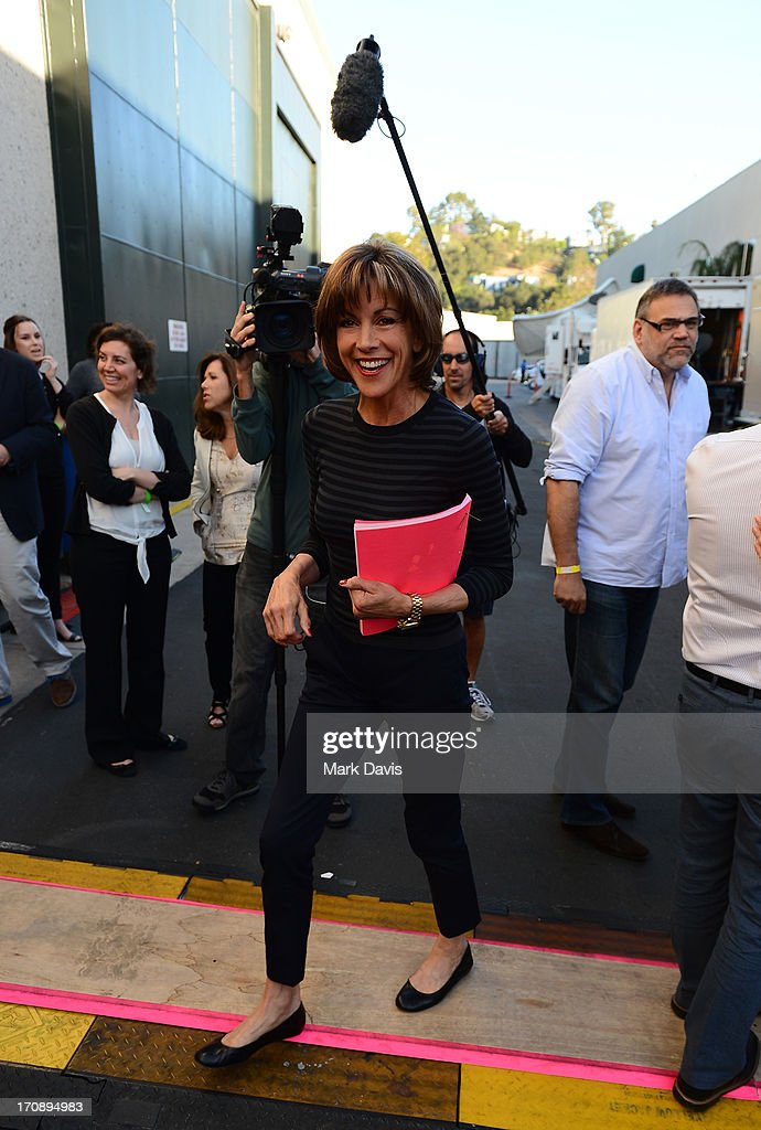 Actress <a gi-track='captionPersonalityLinkClicked' href=/galleries/search?phrase=Wendie+Malick&family=editorial&specificpeople=206371 ng-click='$event.stopPropagation()'>Wendie Malick</a> attends TV Land's 'Hot in Cleveland' Live Show on June 19, 2013 in Studio City, California. (TV Land's Hot in Cleveland goes LIVE at 10:00pm ET in the first LIVE broadcast in the channel's history. Betty White, Jane Leeves, <a gi-track='captionPersonalityLinkClicked' href=/galleries/search?phrase=Wendie+Malick&family=editorial&specificpeople=206371 ng-click='$event.stopPropagation()'>Wendie Malick</a> and Valerie Bertinelli are joined by guest stars William Shatner (Star Trek), Shirley Jones (The Partridge Family), Daniel Pudi (Community) and Brian Baumgartner (The Office).
