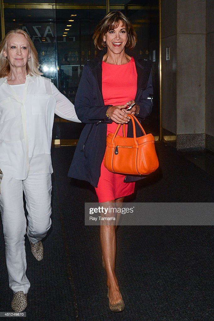 Actress <a gi-track='captionPersonalityLinkClicked' href=/galleries/search?phrase=Wendie+Malick&family=editorial&specificpeople=206371 ng-click='$event.stopPropagation()'>Wendie Malick</a> leaves the 'Today Show' taping at the NBC Rockefeller Center Studios on June 25, 2014 in New York City.