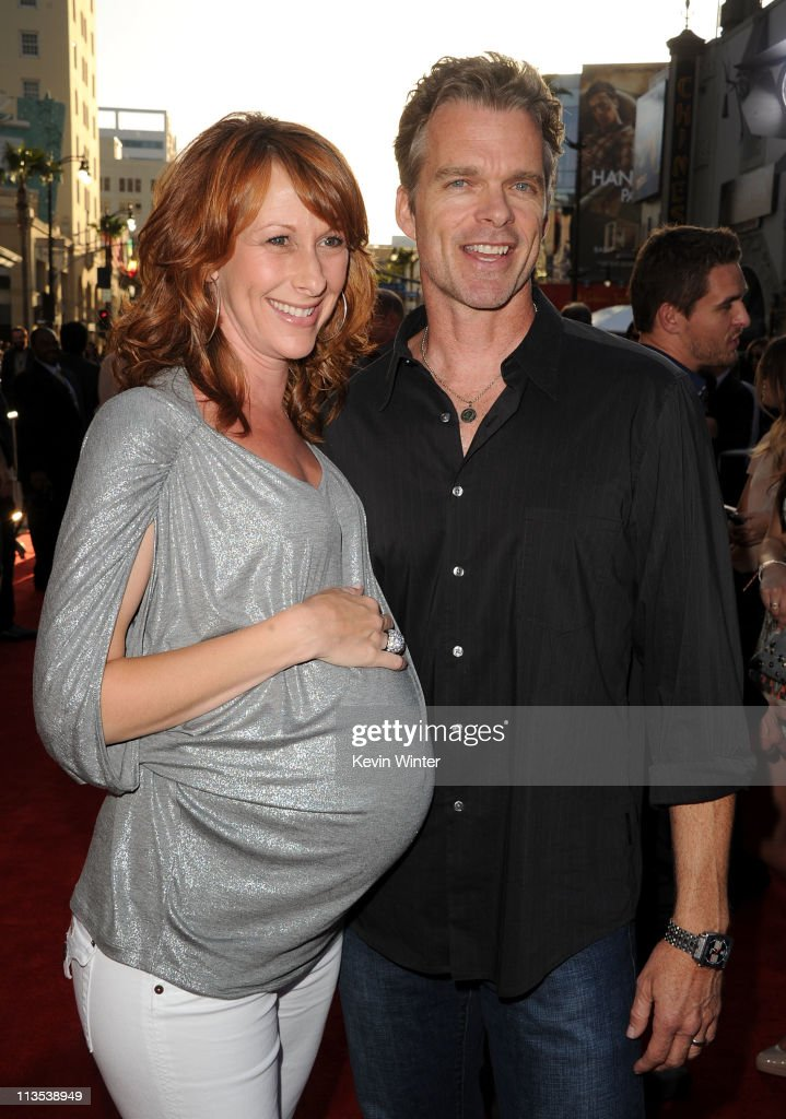 Actress Wendy Braun (L) and Joshua Cox arrive at the premiere of Paramount Pictures' and Marvel's 'Thor' held at the El Capitan Theatre on May 2, 2011 in Los Angeles, California.