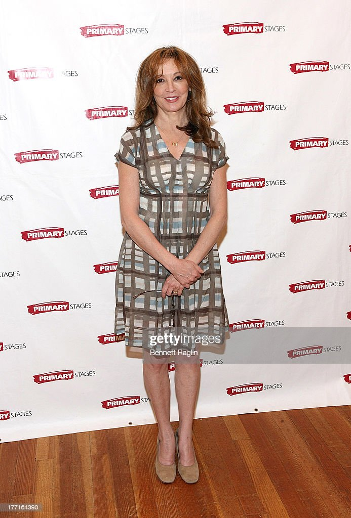 Actress Wendy Makkena attends the cast meet and greet for the upcoming Off-Broadway production 'Bronx Bombers' at Playwrights Horizons Rehearsal Studios on August 21, 2013 in New York City.