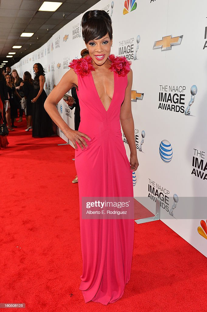 Actress Wendy Raquel Robinson attends the 44th NAACP Image Awards at The Shrine Auditorium on February 1, 2013 in Los Angeles, California.