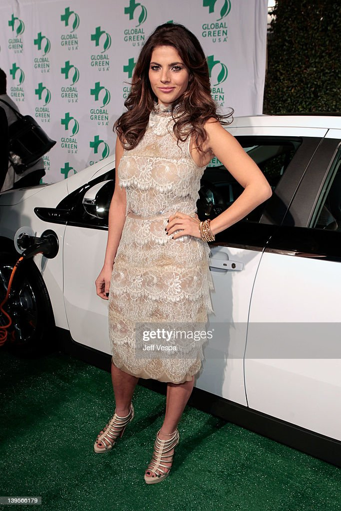 Actress Weronika Rosati arrives at Global Green USA's 9th Annual PreOscar Party Supporting Green Schools and Green Communities at Avalon on February...