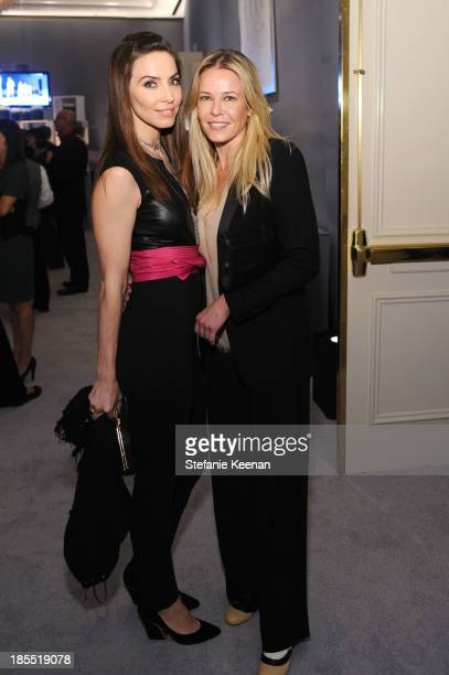 Actress Whitney Cummings and tv personality Chelsea Handler attend ELLE's 20th Annual Women In Hollywood Celebration at Four Seasons Hotel Los...