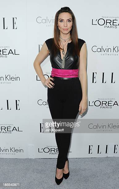 Actress Whitney Cummings arrives at ELLE Celebrates 20th Annual Women In Hollywood Event at Four Seasons Hotel Los Angeles at Beverly Hills on...
