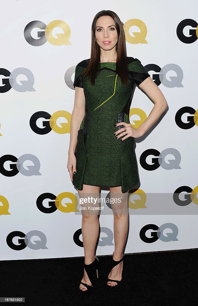 Actress Whitney Cummings arrives at GQ Celebrates The 2013 'Men Of The Year' at The Wilshire Ebell Theatre on November 12, 2013 in Los Angeles, California.