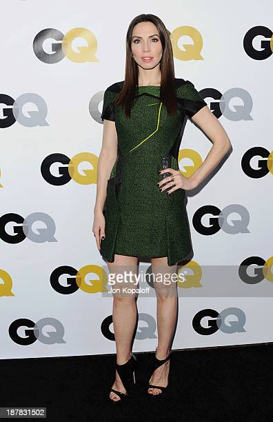 Actress Whitney Cummings arrives at GQ Celebrates The 2013 'Men Of The Year' at The Wilshire Ebell Theatre on November 12 2013 in Los Angeles...