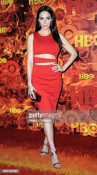 Actress Whitney Cummings arrives for the HBO's Official 2015 Emmy After Party held at The Plaza at the Pacific Design Center on September 20 2015 in...