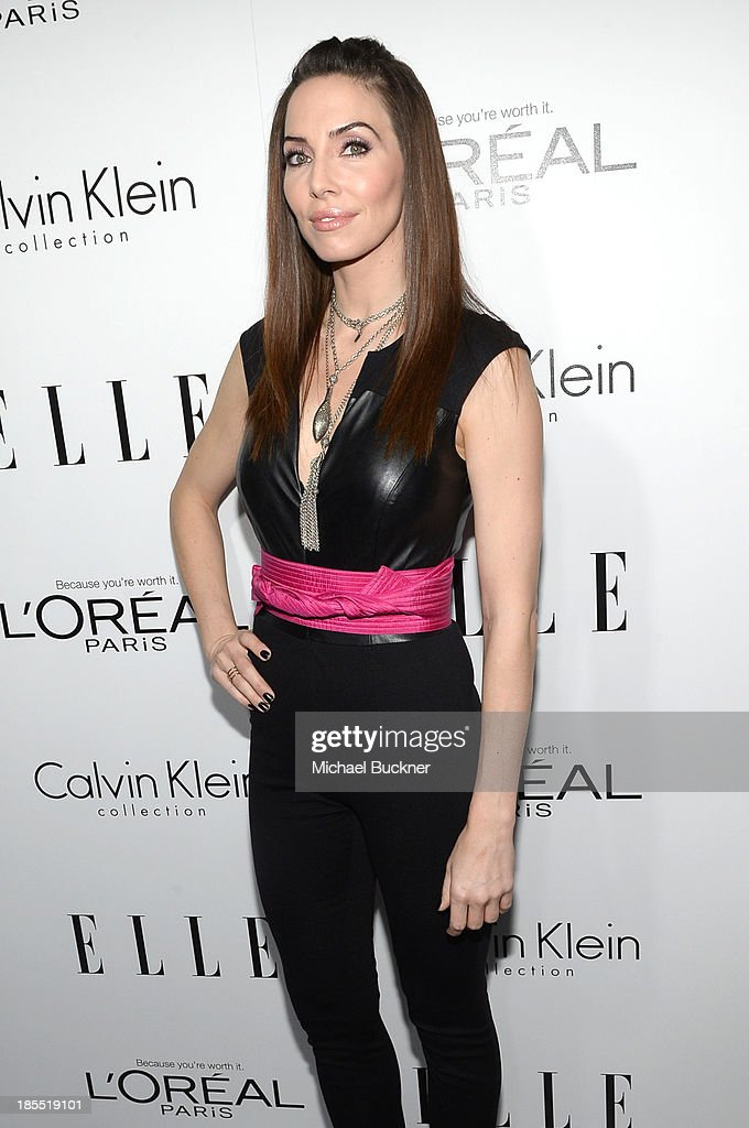 Actress <a gi-track='captionPersonalityLinkClicked' href=/galleries/search?phrase=Whitney+Cummings&family=editorial&specificpeople=240395 ng-click='$event.stopPropagation()'>Whitney Cummings</a> attends ELLE's 20th Annual Women In Hollywood Celebration at Four Seasons Hotel Los Angeles at Beverly Hills on October 21, 2013 in Beverly Hills, California.