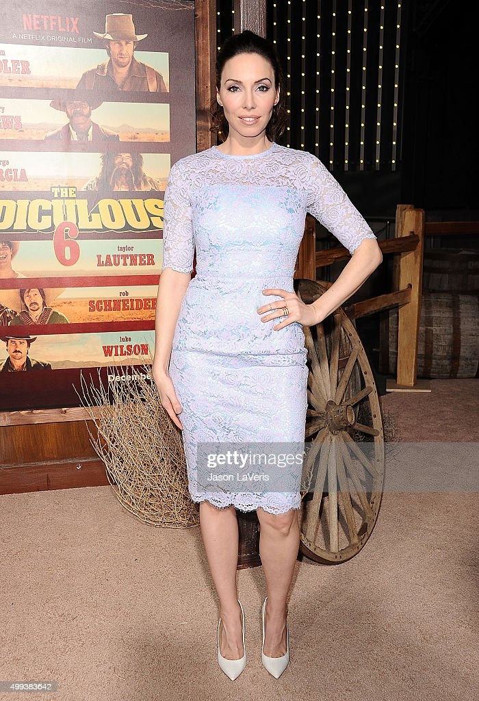 Actress Whitney Cummings attends the premiere of 'The Ridiculous 6' at AMC Universal City Walk on November 30, 2015 in Universal City, California.