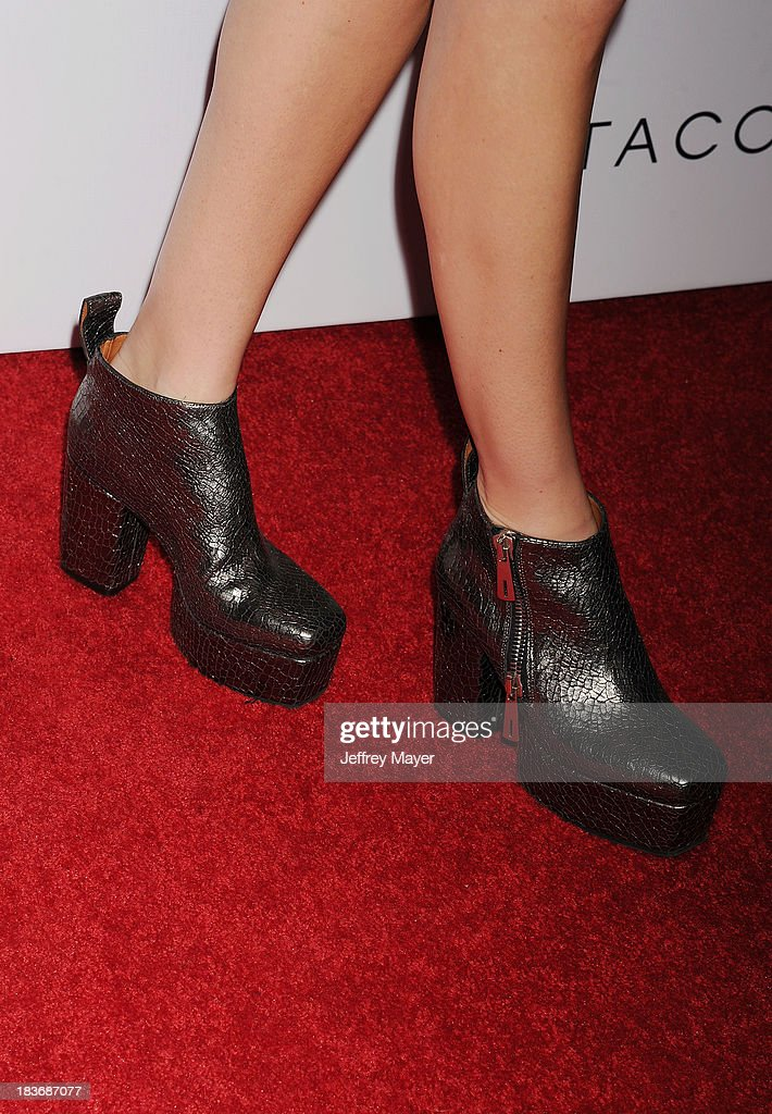 Actress <a gi-track='captionPersonalityLinkClicked' href=/galleries/search?phrase=Whitney+Port&family=editorial&specificpeople=544473 ng-click='$event.stopPropagation()'>Whitney Port</a> (shoe detail) at the Tacori's Annual Club Tacori 2013 Event at Greystone Manor Supperclub on October 8, 2013 in West Hollywood,