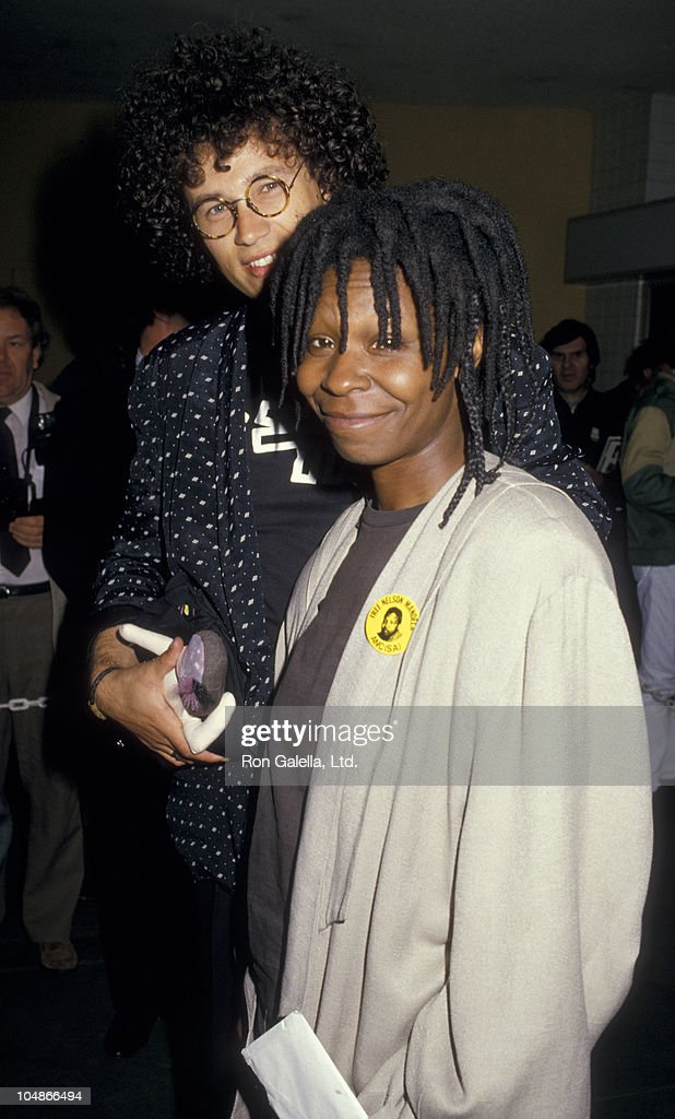 Actress Whoopi Goldberg and husband David Claessen attend Second Annual Cinematheque Awards Honoring Bette Midler on February 21, 1987 at the Hollywood Palladium in Hollywood, California.
