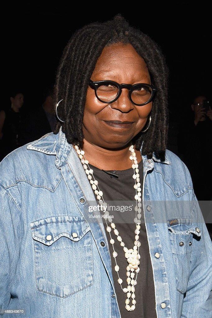 Actress Whoopi Goldberg attends Carmen Marc Valvo Women's and Men's Collection S/S 2016 during New York Fashion Week The Shows at The Arc Skylight at...
