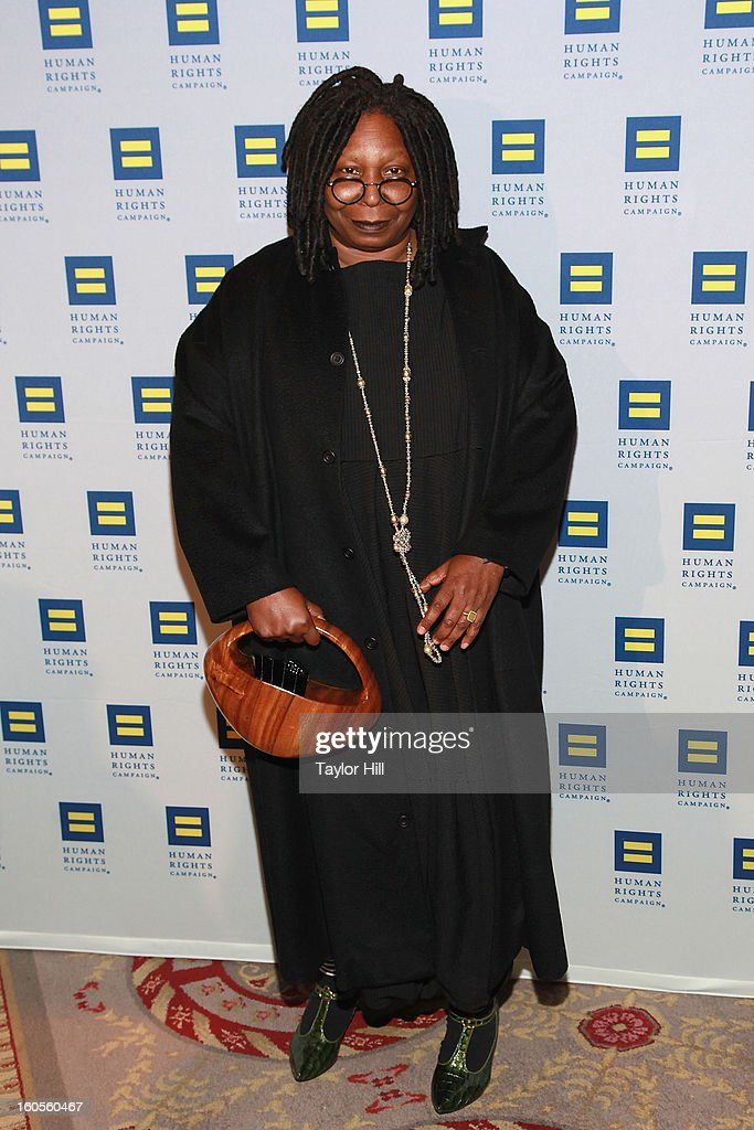 Actress Whoopi Goldberg attends The 2013 Greater New York Human Rights Campaign Gala at The Waldorf=Astoria on February 2, 2013 in New York City.