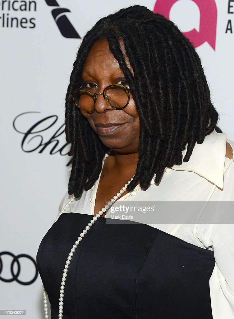 Actress <a gi-track='captionPersonalityLinkClicked' href=/galleries/search?phrase=Whoopi+Goldberg&family=editorial&specificpeople=202463 ng-click='$event.stopPropagation()'>Whoopi Goldberg</a> attends the 22nd Annual Elton John AIDS Foundation's Oscar Viewing Party on March 2, 2014 in Los Angeles, California.