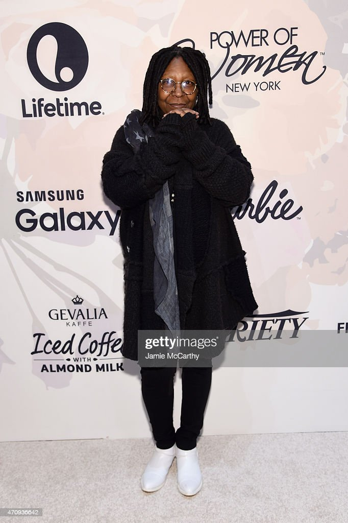 Actress Whoopi Goldberg attends Variety's Power of Women New York presented by Lifetime at Cipriani 42nd Street on April 24 2015 in New York City