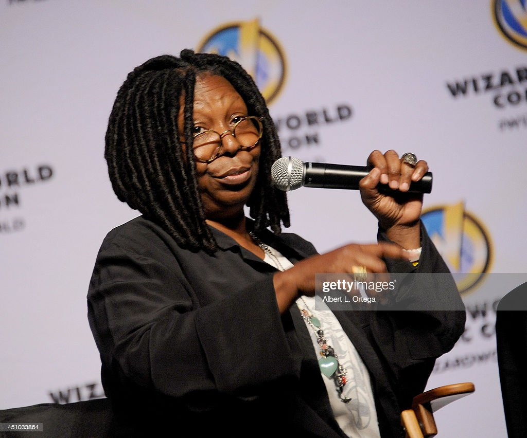 Actress <a gi-track='captionPersonalityLinkClicked' href=/galleries/search?phrase=Whoopi+Goldberg&family=editorial&specificpeople=202463 ng-click='$event.stopPropagation()'>Whoopi Goldberg</a> attends Wizard World Philadelphia Comic Con 2014 Day 3 held at Pennsylvania Convention Center on June 21, 2014 in Philadelphia, Pennsylvania.