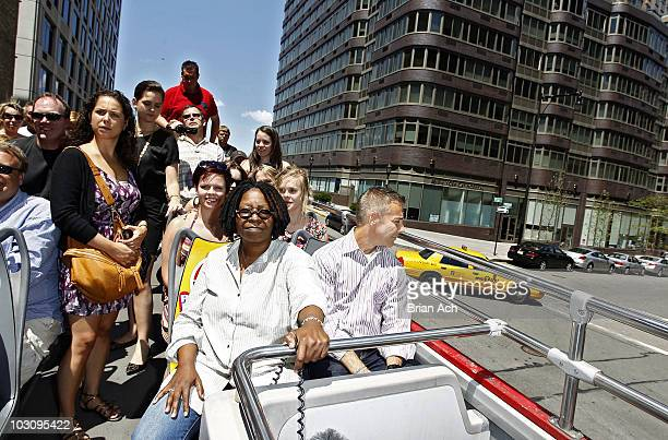 Actress Whoopi Goldberg is honored by Gray Line New York's Ride Of Fame Campaign on July 26 2010 in New York City