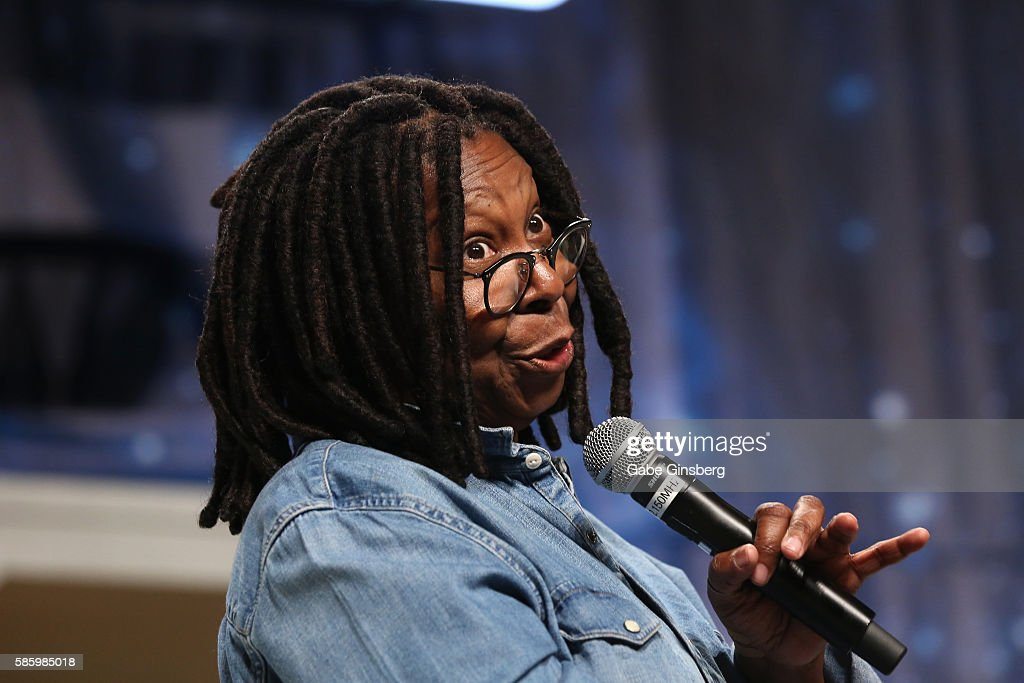Actress Whoopi Goldberg speaks during the 15th annual official Star Trek convention at the Rio Hotel Casino on August 4 2016 in Las Vegas Nevada
