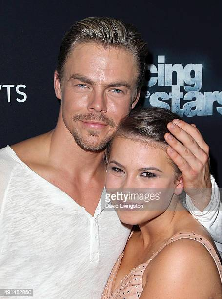 Actress/ wildlife conservationist Bindi Irwin and dancer/TV personality Derek Hough attend 'Dancing with the Stars' Season 21 at CBS Television City...