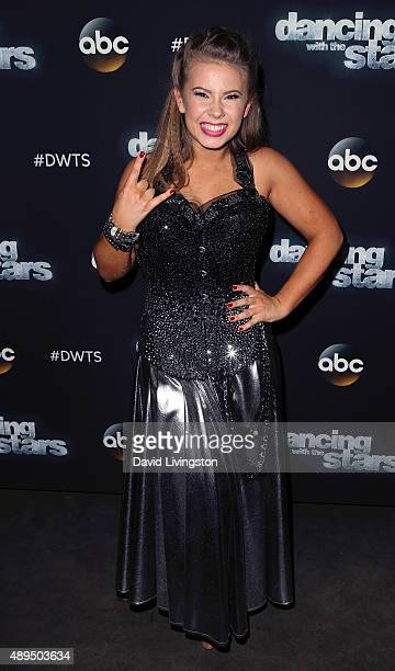 Actress/ wildlife conservationist Bindi Irwin attends 'Dancing with the Stars' Season 21 at CBS Television City on September 21 2015 in Los Angeles...