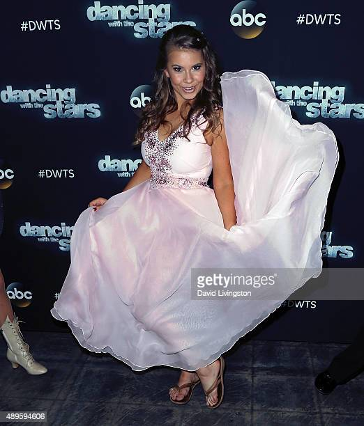 Actress/ wildlife conservationist Bindi Irwin attends 'Dancing with the Stars' Season 21 at CBS Televison City on September 22 2015 in Los Angeles...