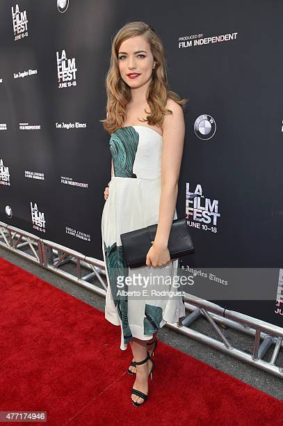 Actress Willa Fitzgerald attends the MTV and Dimension TV premiere of 'Scream' at the Los Angeles Film Festival on June 14 2015 in Los Angeles...