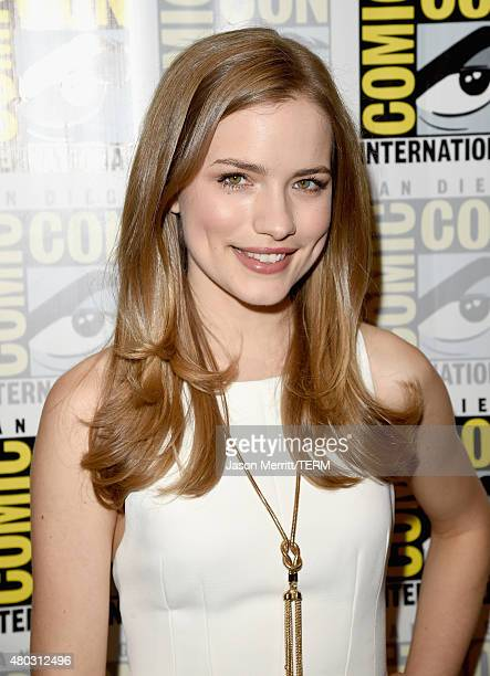 Actress Willa Fitzgerald attends the 'Scream' press room during ComicCon International 2015 at the Hilton Bayfront on July 10 2015 in San Diego...