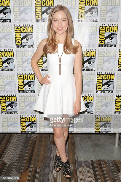 Actress Willa Fitzgerald attends the 'Scream' press room during day 2 of ComicCon International on July 10 2015 in San Diego California