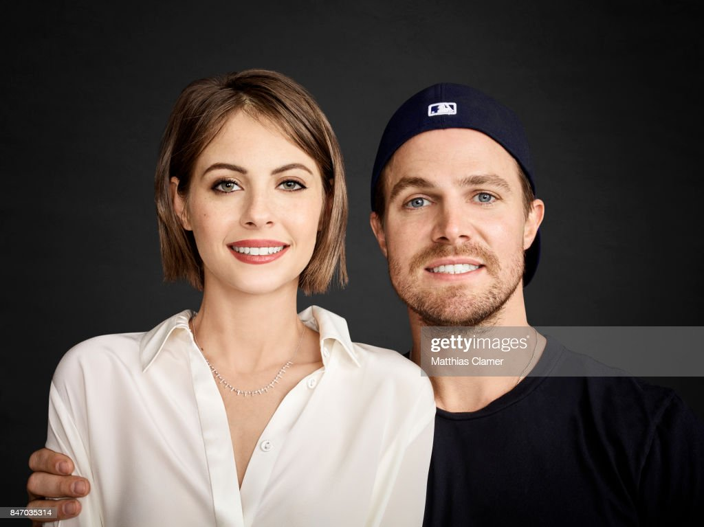 Actress Willa Holland and actor Stephen Amell from 'Arrow' are photographed for Entertainment Weekly Magazine on July 23, 2016 at Comic Con in the Hard Rock Hotel in San Diego, California.