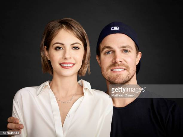 Actress Willa Holland and actor Stephen Amell from 'Arrow' are photographed for Entertainment Weekly Magazine on July 23 2016 at Comic Con in the...