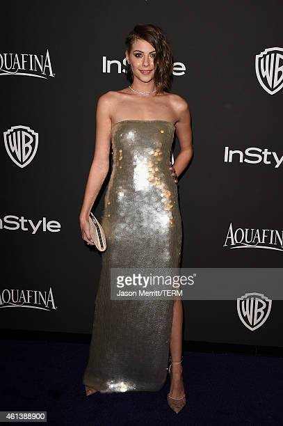 Actress Willa Holland attends the 2015 InStyle And Warner Bros 72nd Annual Golden Globe Awards PostParty at The Beverly Hilton Hotel on January 11...