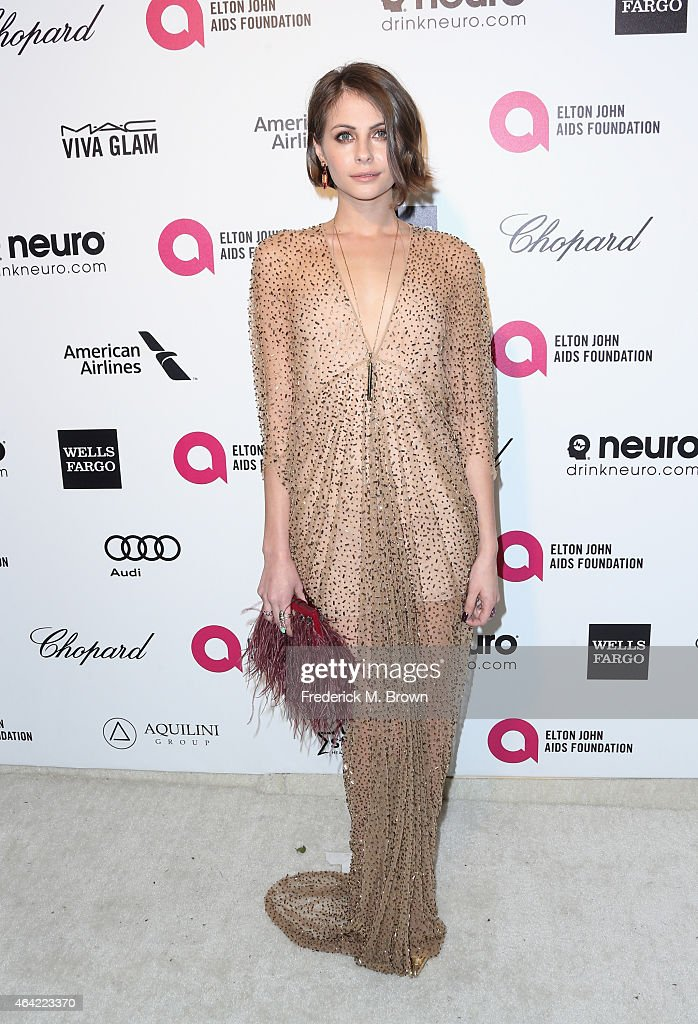 Actress Willa Holland attends the 23rd Annual Elton John AIDS Foundation's Oscar Viewing Party on February 22 2015 in West Hollywood California