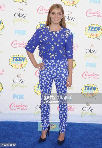 Actress Willow Shields arrives at the 2014 Teen Choice Awards at The Shrine Auditorium on August 10 2014 in Los Angeles California