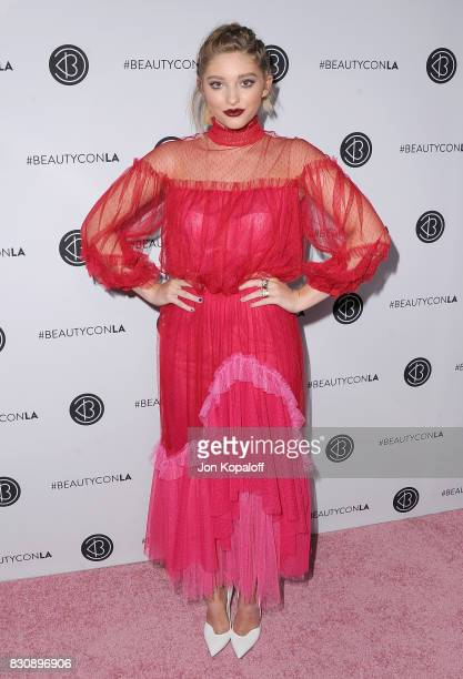 Actress Willow Shields arrives at the 5th Annual Beautycon Festival Los Angeles at Los Angeles Convention Center on August 12 2017 in Los Angeles...
