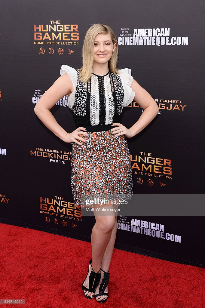 Actress Willow Shields arrives at the Lionsgate's 'The Hunger Games: Mockingjay - Part 2' fan event at the Egyptian Theatre on March 20, 2016 in Hollywood, California.