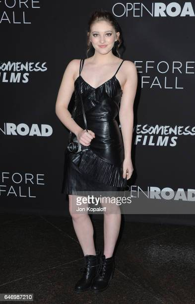 Actress Willow Shields arrives at the Los Angeles premiere 'Before I Fall' at Directors Guild Of America on March 1 2017 in Los Angeles California