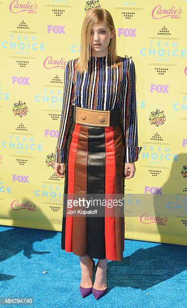 Actress Willow Shields arrives at the Teen Choice Awards 2015 at Galen Center on August 16 2015 in Los Angeles California