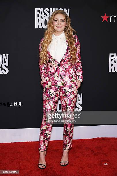 Actress Willow Shields attends Fashion Rocks 2014 presented by Three Lions Entertainment at the Barclays Center of Brooklyn on September 9 2014 in...