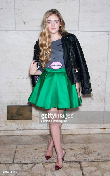 Actress Willow Shields is seen at the Lincoln Center during MercedesBenz Fashion Week Spring 2015 on September 10 2014 in New York City