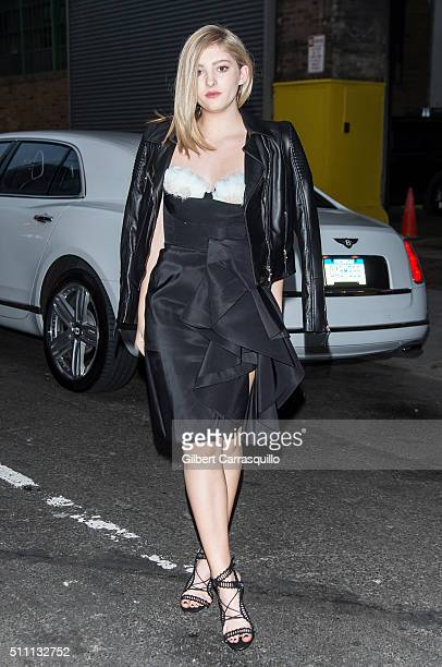 Actress Willow Shields is seen outside the Marchesa Fall 2016 fashion show during New York Fashion Week at The Dock Skylight at Moynihan Station on...