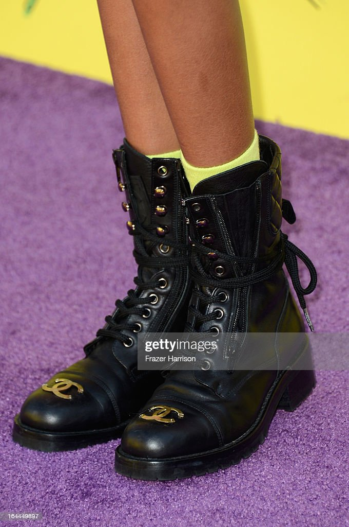 Actress Willow Smith arrives at Nickelodeon's 26th Annual Kids' Choice Awards at USC Galen Center on March 23, 2013 in Los Angeles, California.